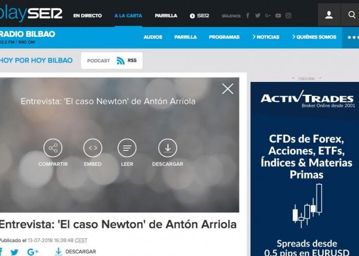 Cadena Ser: 'El caso Newton' de Antón Arriola